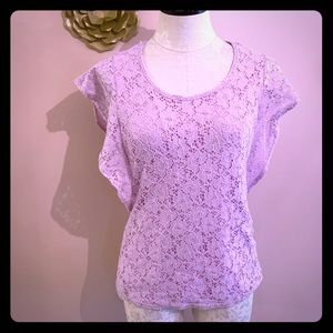 NY Collection Lace Blouse